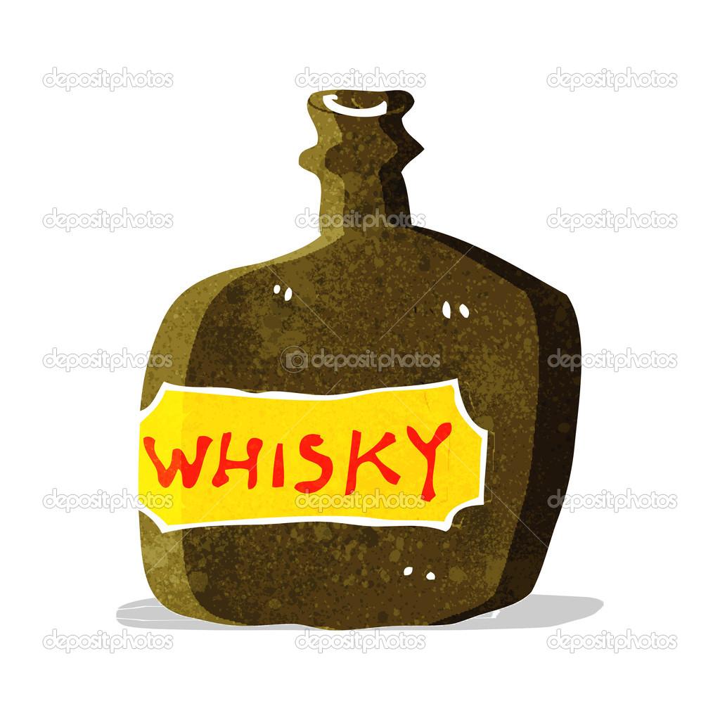 fiole de whisky de dessin anim image vectorielle lineartestpilot 50857277. Black Bedroom Furniture Sets. Home Design Ideas