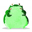 Cartoon fat frog — Stock Vector #50860807