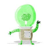 Cartoon robot cyborg — Stock Vector
