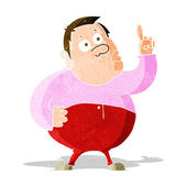 Cartoon man asking question — Stock Vector