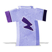 Cartoon t shirt with lightning bolt — Stock Vector
