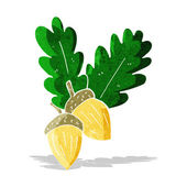 Cartoon acorns — Stock Vector