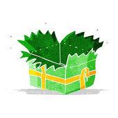 Cartoon open present — Stock Vector
