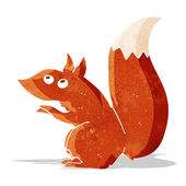 Cartoon red squirrel — Stock Vector