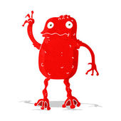 Cartoon poisonous frog — Stock Vector