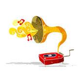 Cartoon gramophone — Stockvector
