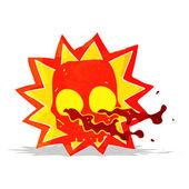 Símbolo de la calavera de halloween de la historieta — Vector de stock