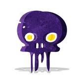 Cartoon spooky skull symbol — Stock Vector