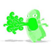 Funny cartoon ghost — Stock Vector