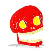 Cartoon spooky skull — Vector de stock