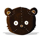 Cartoon black bear head — Stock Vector