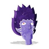 卡通吸血鬼的脸 — 图库矢量图片