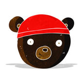 Cartoon black bear face — Stock Vector