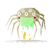 Kreskówka brutto halloween pająk — Wektor stockowy