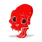 Cartoon spooky vampire skull — Stock Vector