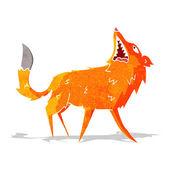 Cartoon snapping fox — Stock Vector