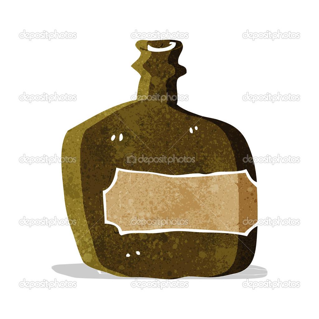 fiole de whisky de dessin anim image vectorielle lineartestpilot 51100353. Black Bedroom Furniture Sets. Home Design Ideas
