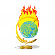 Cartoon burning globe — Stock Vector #51457851