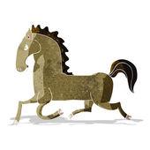 Cartoon running horse — Stock vektor