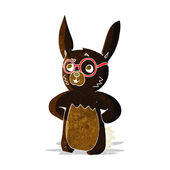 Cartoon rabbit wearing spectacles — Wektor stockowy