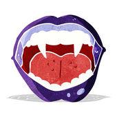 Cartoon vampire mouth — Stock Vector