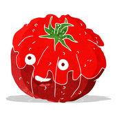 Cartoon happy tomato — Stock Vector