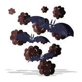 Cartoon vampire bats — Stock vektor