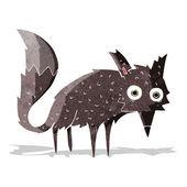 Funny cartoon little wolf — Vettoriale Stock