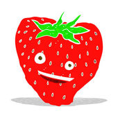 Cartoon strawberry — Stock Vector