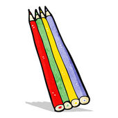 мультфильм цветные карандаши — Cтоковый вектор