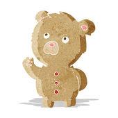 Cartoon winken teddybär — Stockvektor