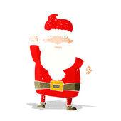 Cartoon angry santa claus — Stock Vector