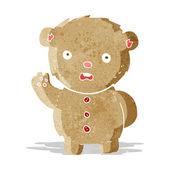 Cartoon unhappy teddy bear — Stockvektor