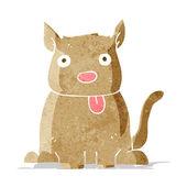 Kreslený pes trčí jazyk — Stock vektor