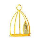 Cartoon bird cage — Stock Vector