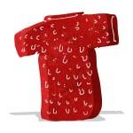 Cartoon woolly tee — Stock Vector #51708055