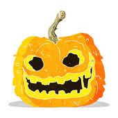 Cartoon spooky pumpkin — Stock Vector