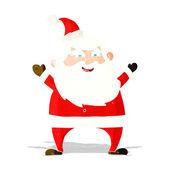 Jolly santa cartoon — Stock Vector