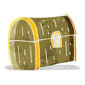 Cartoon treasure chest — Stock Vector
