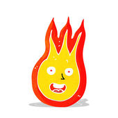 Cartoon friendly fireball — Stok Vektör