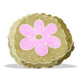 Cartoon baked biscuit — Stock Vector