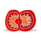 Cartoon sliced tomato — Vector de stock