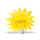 Cartoon electric light bulb — Stock Vector