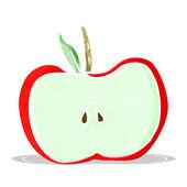 Cartoon apple half — Stock Vector