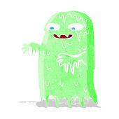 Cartoon gross slime ghost — Stock Vector
