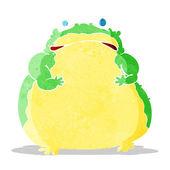 Cartoon fat toad — Stock Vector