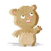 Cartoon happy little teddy bear — Stock Vector