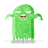Cartoon slimy ghost — Stock Vector