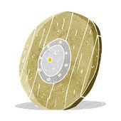 Cartoon wooden shield — Stock Vector