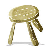 Cartoon wooden stool — Stock Vector